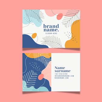 Memphis business card set