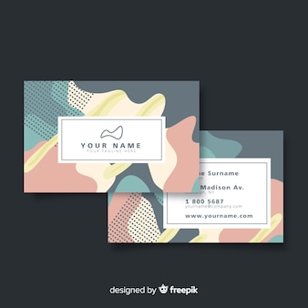Memphis business card template with logo