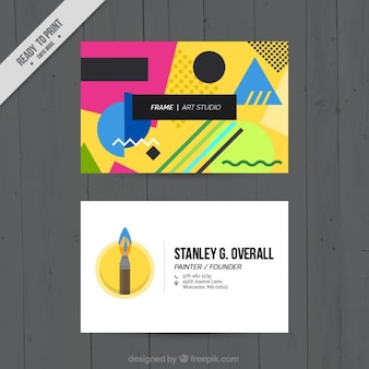 Memphis business cards , art studio