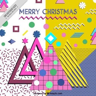Memphis christmas background