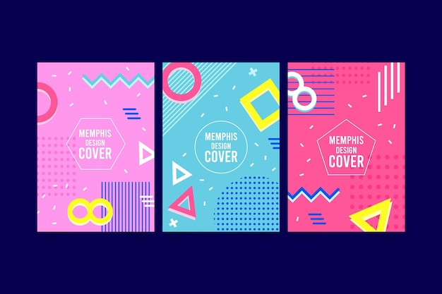 Memphis colorful cover pack