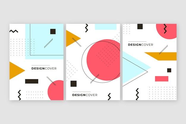 Pacchetto cover dal design colorato memphis