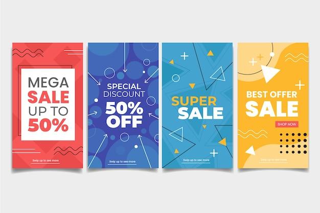 Мемфис красочные инстаграм продажи истории набор