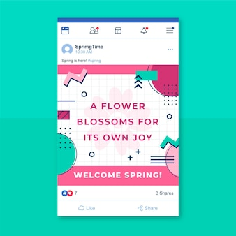 Post facebook colorato primavera di memphis