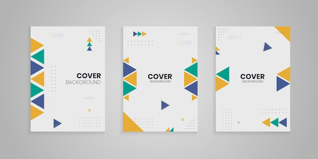 Memphis cover collection with colorful shapes