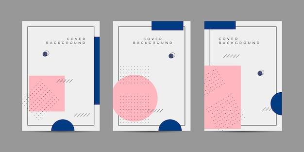 Memphis cover design collection set