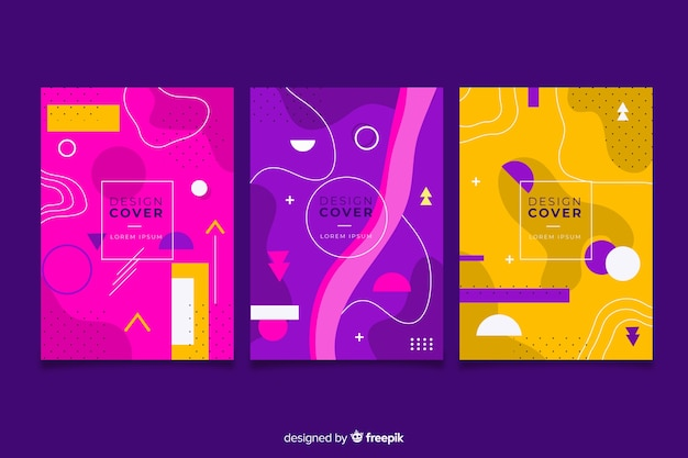 Memphis design cover collection