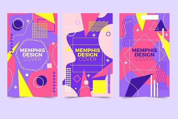 Collezione di copertine di design di memphis