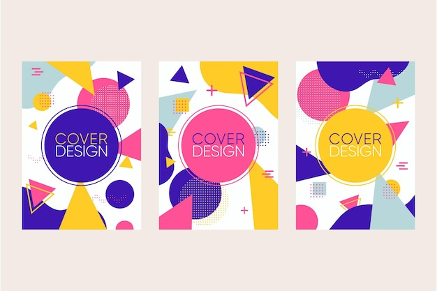 Memphis design covers collection