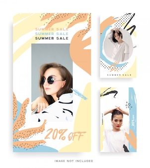 Memphis design fashion instagram stories collection