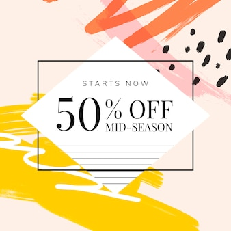 Memphis design with summer sale vector