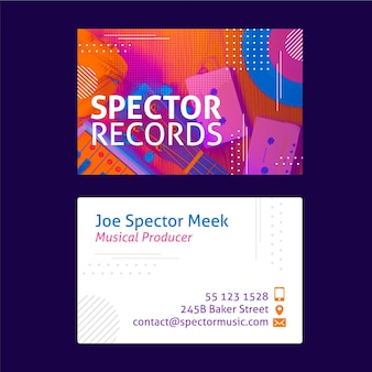 Memphis double-sided horizontal business card