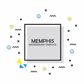Memphis flat backgroun template
