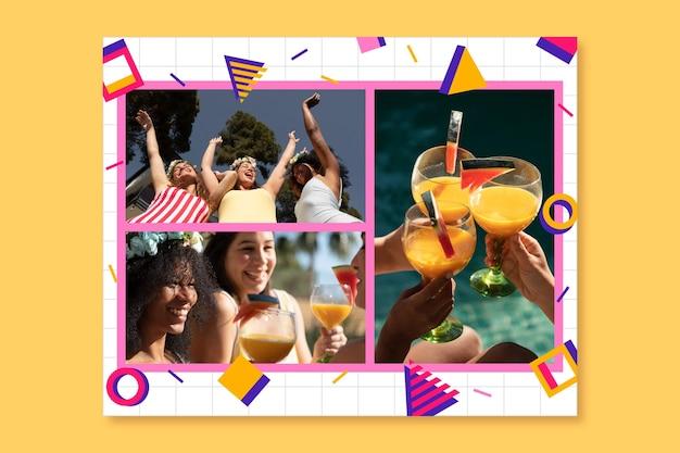 Memphis amicizia amore collage di foto