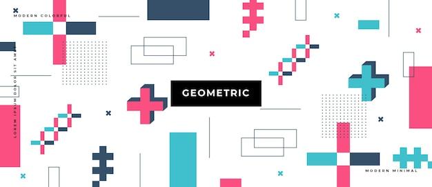 抽象的な形のメンフィスの幾何学的な背景