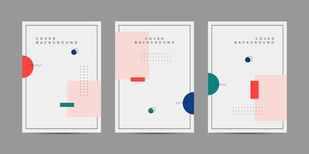 Мемфис геометрическая коллекция обложек