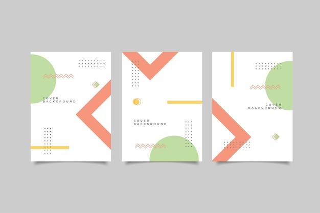 Мемфис геометрическая коллекция дизайна обложки