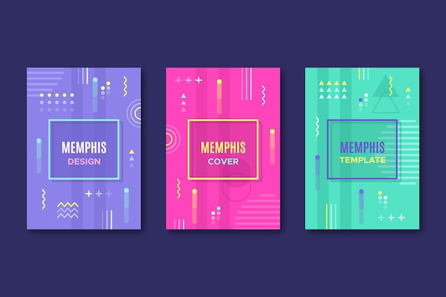 Memphis geometric design cover pack