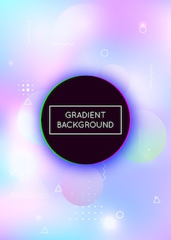 Memphis gradient background with liquid shapes