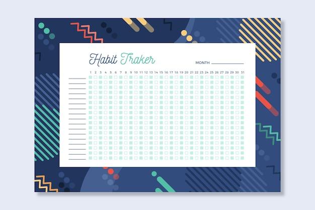 Memphis habit tracker template