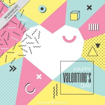Memphis heart of valentine's background