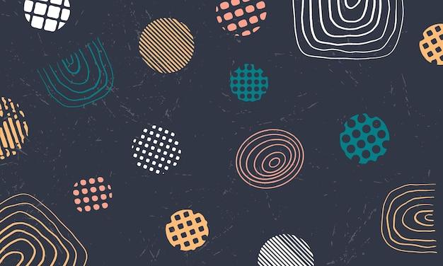 手でメンフィスは、パターンの背景を描画します