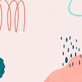 ピンクと緑の抽象的なカラフルな落書きメンフィス図面のメンフィス