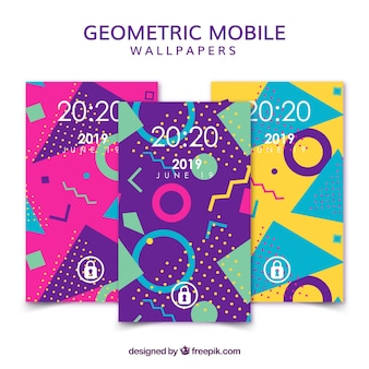 Memphis mobile phone wallpapers set