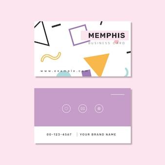 メンフィスの名刺デザイン