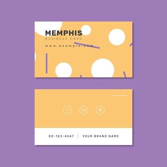 Memphis name card design