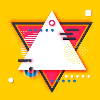 Memphis paper cut shapes. pop art and 80s style. trendy abstract geometric.
