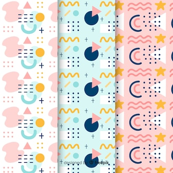 Memphis pattern collection concept for background