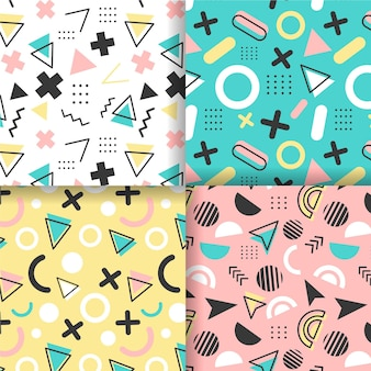 Memphis pattern collection concept