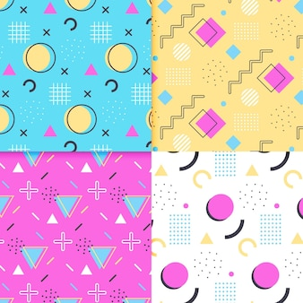Memphis pattern collection style