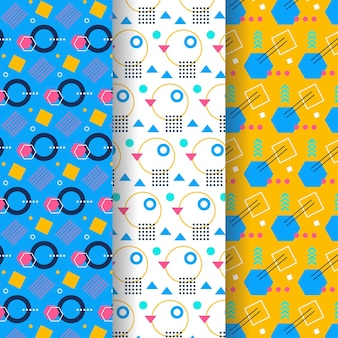 Memphis pattern collection theme