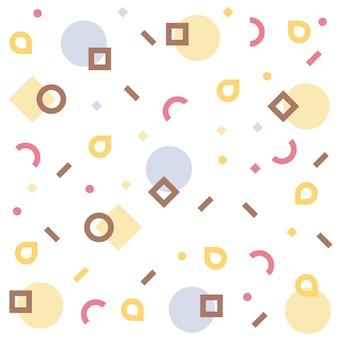 幾何学的形状のメンフィスパターン。カラフルなパターンのメンフィススタイル
