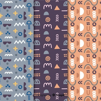 Memphis pattern in pale colour tones