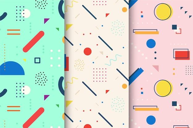 Memphis pattern set
