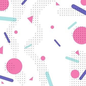 Memphis pattern styles background