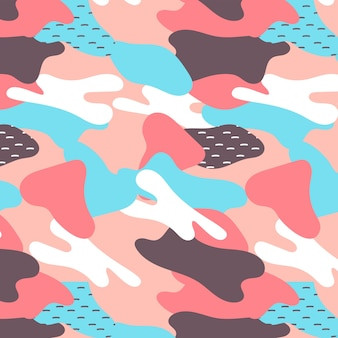 Memphis pattern with abstract shapes