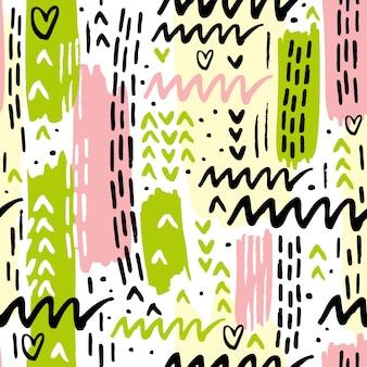 Цветная фигура memphis pattern