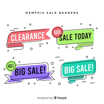 Memphis sale banner collection