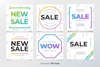 Memphis Sale Web Banners for Social Media