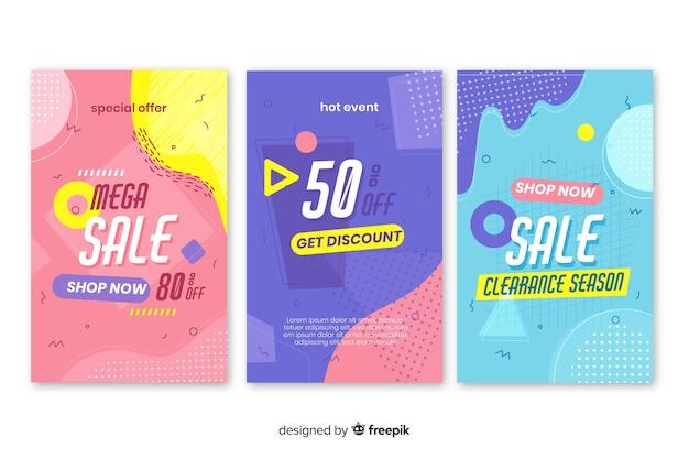 멤피스 판매 배너 템플릿 컬렉션