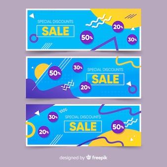 Raccolta di modelli di banner di vendita di memphis