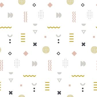 メンフィスのパステルカラーのシームレスなパターン。