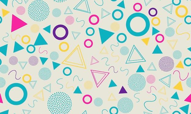 Memphis seamless pattern.