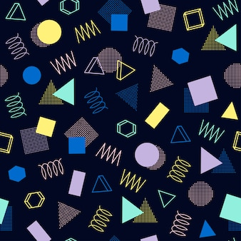 Memphis seamless patterns. 80-90s. abstract jumble textures.