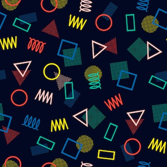 Memphis seamless patterns. abstract jumble textures.