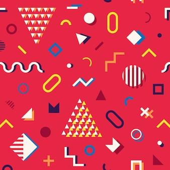 メンフィススタイルの抽象的な幾何学模様のシームレスなパターン